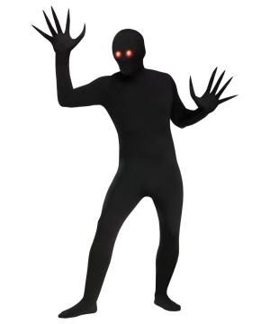 Glowing Eyes Shadow Demon Skin Suit Unisex  Costume