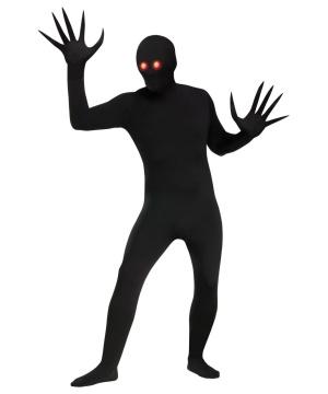 Glowing Eyes Shadow Demon Skin Suit Unisex Adult Costume