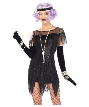 Foxtrot Flirt Black Flapper Women Costume