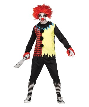 Scary Freak Show Clown Man Costume