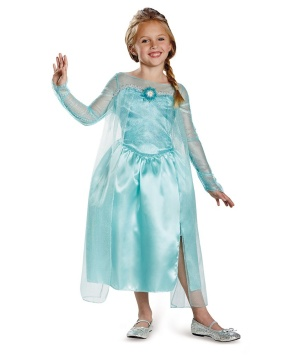 Elsa Snow Queen Gown Girls Classic Disney's Frozen Costume