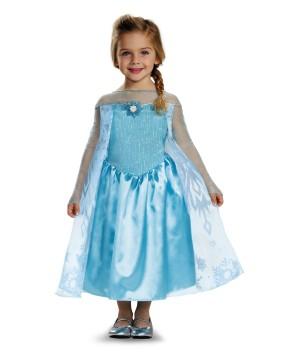 Frozen Elsa Little Girls Disney Costume Party Dress Arendale Ice Queen