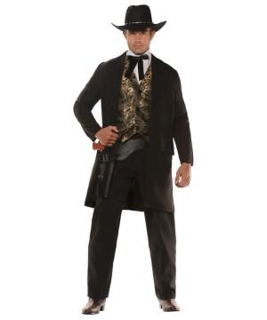 Gambler Cowboy Gentleman Men Costume