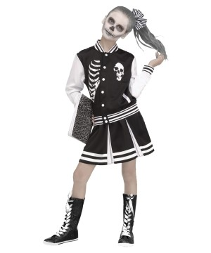 Girls Scare Squad Skeleton Costume