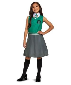 Girls Slytherin Dress Costume