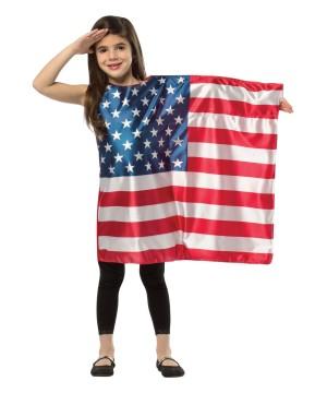 Usa Flag Dress Girls Costume
