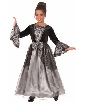 Gothic Princess Silver Gloom Big Girls Costume
