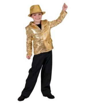 Gold Disco Kids Costume
