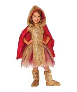 Princess Girls Golden Warrior Costume