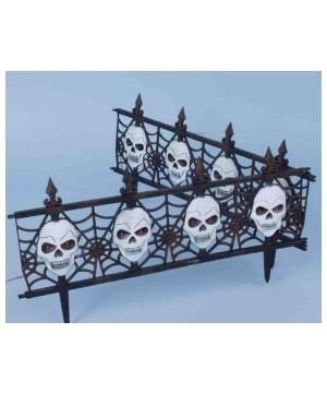 Gothic Skull Fence Decoration