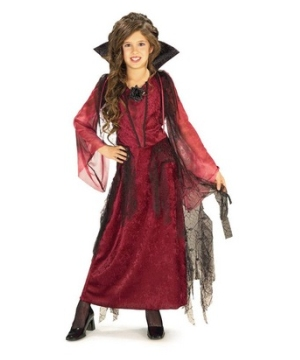 Gothic Vampiress Girl Costume