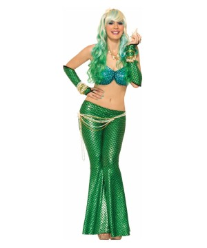 Blue And Green Mermaid Woman Costume