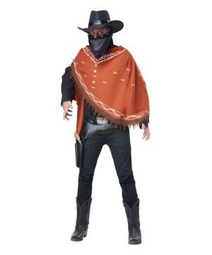 Gruesome Outlaw Felon Cowboy Men Costume