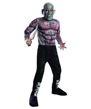 Guardians Of The Galaxy Drax The Destroyer Boy's Movie Costume