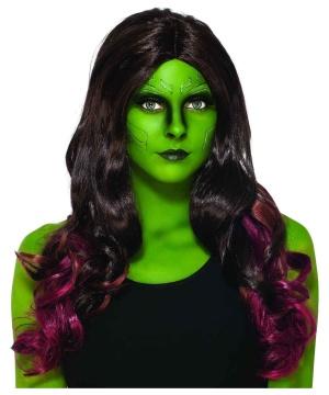 Marvel Guardians Of The Galaxy Gamora Adult Wig