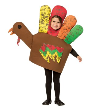Hand Turkey Girls Costume