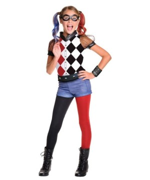 Suicide Squad Harley Quinn Girls Costume Deluxe