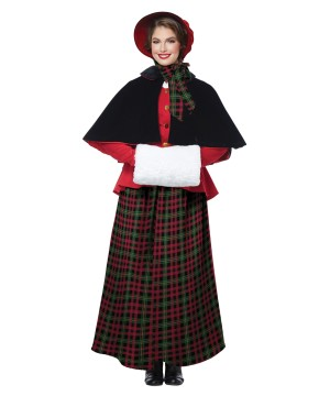Holiday Caroler Womens Costume