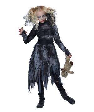 Dark Zombie Feaster Girls Costume