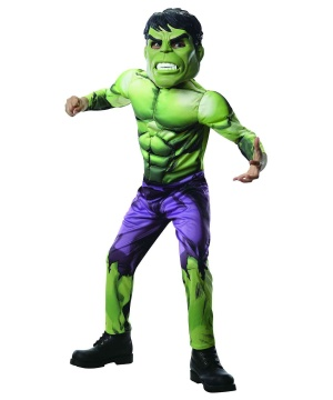 Hulk Boys Costume Marvel Superhero Comics Movie Jumpsuit Child Size