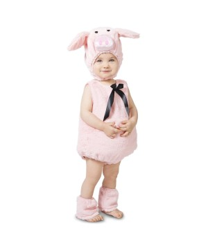Infant Girls Pink Piglet Costume