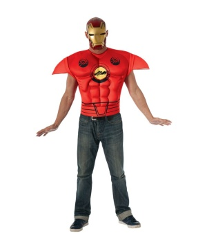 Iron Man Adult Muscle Costume Shirt