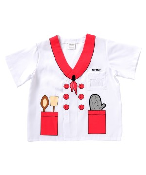 Kids Printed Chef Shirt