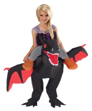 Kids Ride Dragon Inflatable Costume