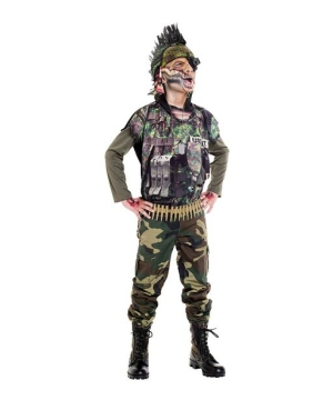 Kids Sergeant Splatter Costume
