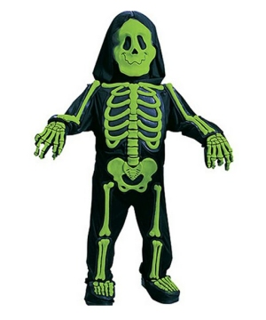 Kids Skelebones Costume Green