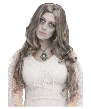 Long Silver Women Ghost Wig