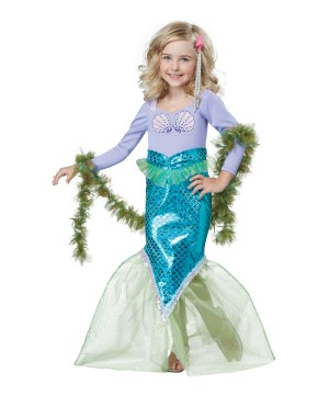 Magical Mermaid Little Girls Costume