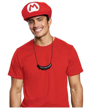 Mario Mustache Necklace Adult