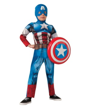 Marvel Captain America Boys Costume