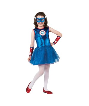 Marvel Captain America Girls Superhero Halloween Costume