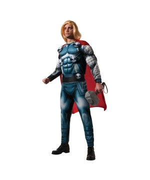 Marvel Classic Superhero Thor Mens Halloween Cosplay Costume Deluxe