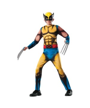 Marvel Wolverine X?men Superhero Boys Halloween Costume Deluxe