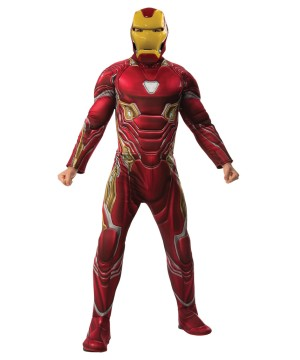 Mens Endgame Iron Man Mark 50 Suit Costume Deluxe