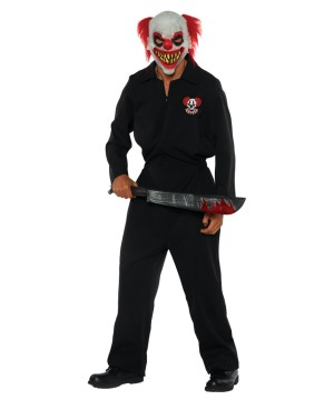 Mens Killer Clown Crew Costume