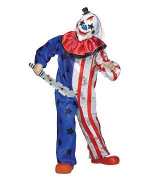 Mens Scary Circus Clown Costume