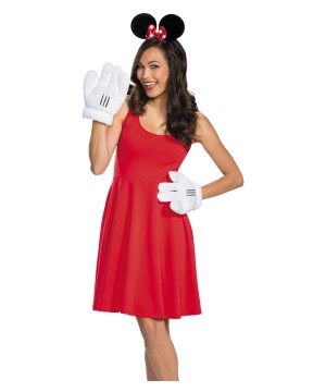Disney Minnie Mouse Gloves And Ears Women Set