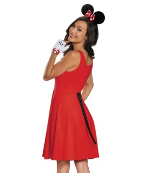 Disney Minnie Mouse Ears Gloves And Tail Women Costume Set
