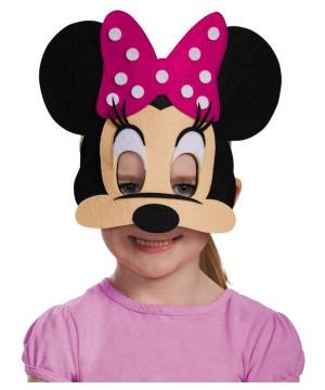 Disney Minnie Mouse Pink Felt Big Girls Mask
