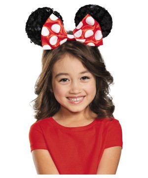 Disney Minnie Mouse Sequin Big Girls Ears