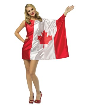 Miss Canada Flag Costume