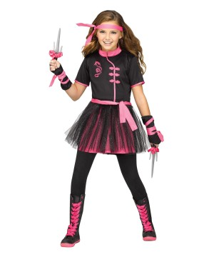 Miss Ninja Big Girls Costume
