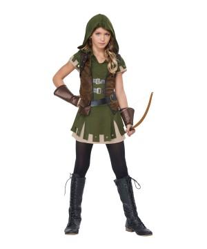 Miss Robin Hood Girls Tween Costume