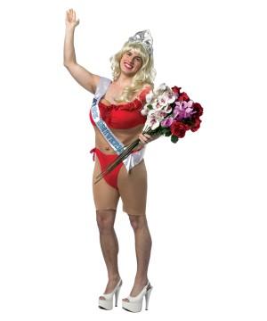 Miss Universe Red Bikini Men Costume