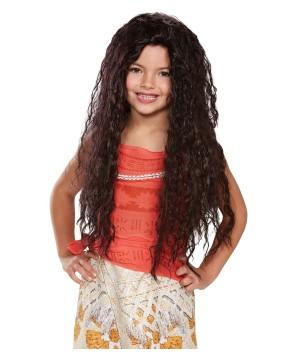 Girls Moana Wig