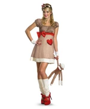 Ms Sock Monkey Adult Costume